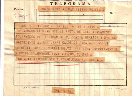 telegramă din